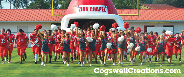 Cogswell Creations Inflatable Sports Tunnels - Football Tunnels - Mascot Tunnels